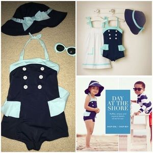Janie and Jack Swimsuit and Sunglasses 2T